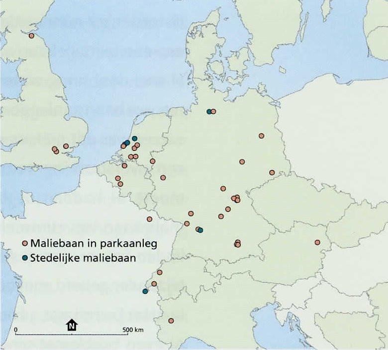 Maliebanen, in stedelijke omgeving of in park aanleg