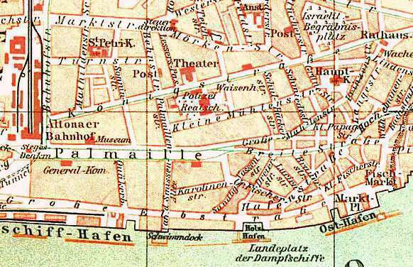 Maliebaan Altona, Deutschland. Ca. 1890