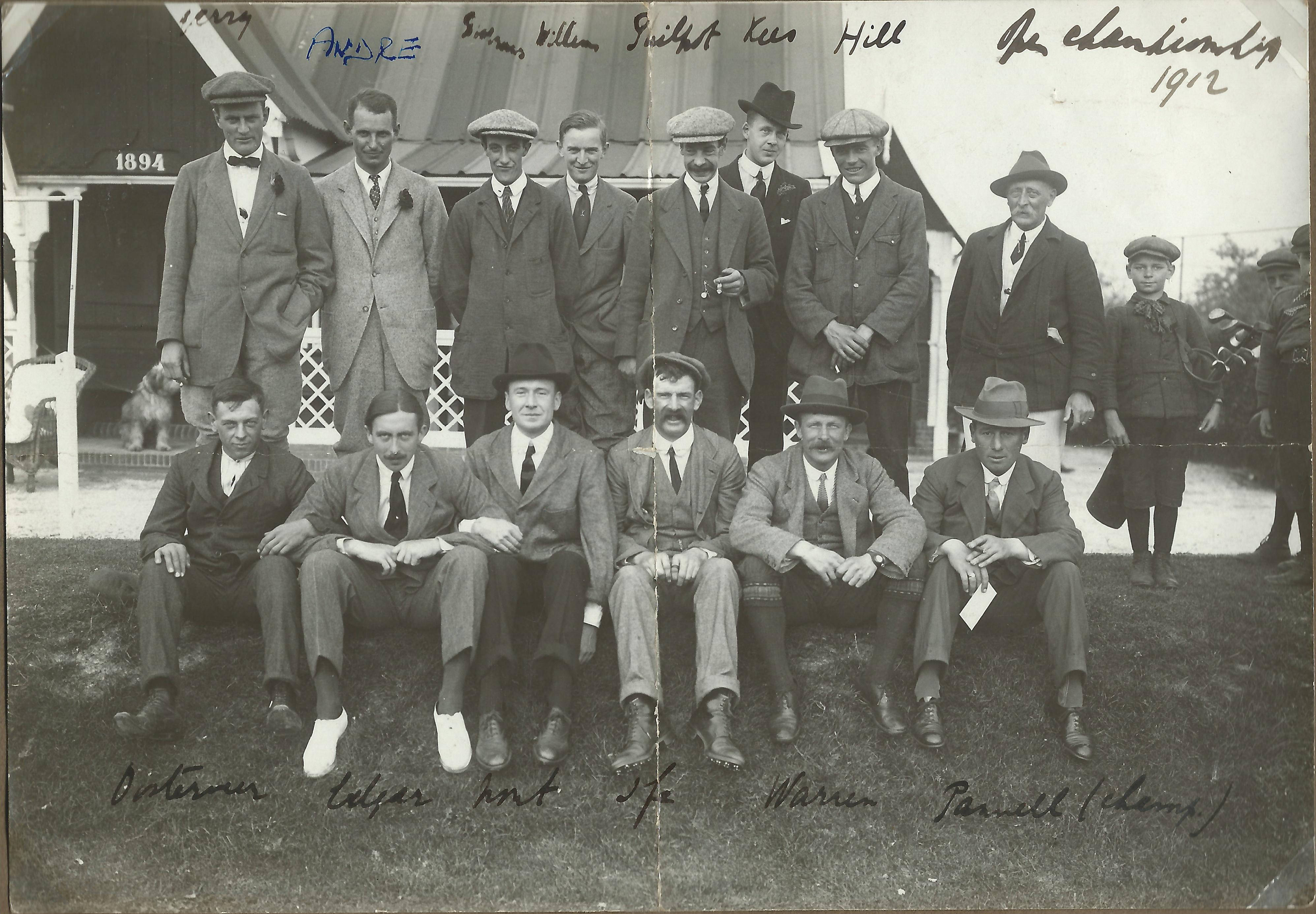 Golf: open kampioenschap - 1912
