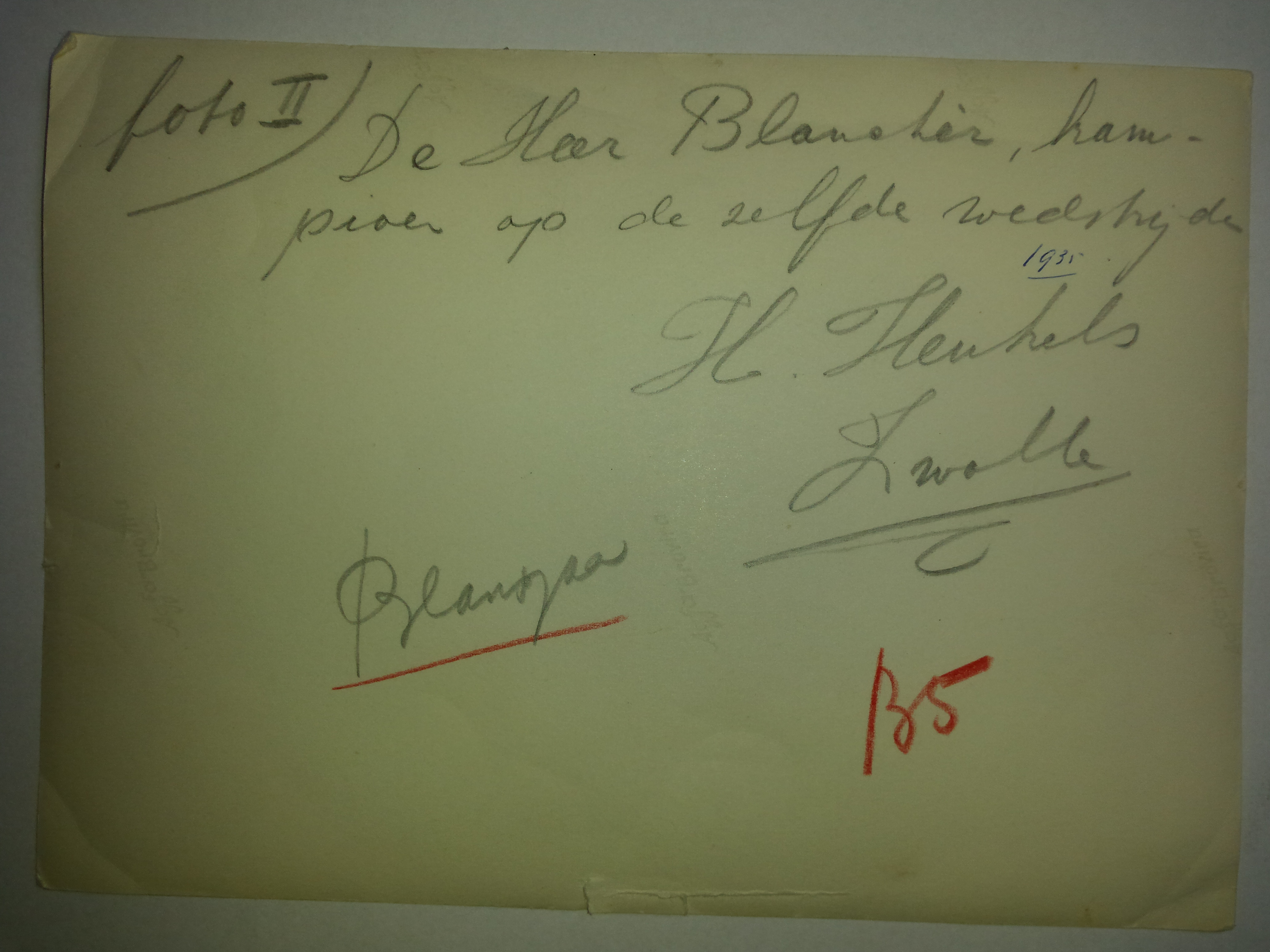 Jan Blansjaar achterkant - 1935