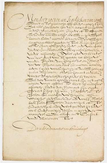 Palmmalie (Malie), ordonnantie Den Haag