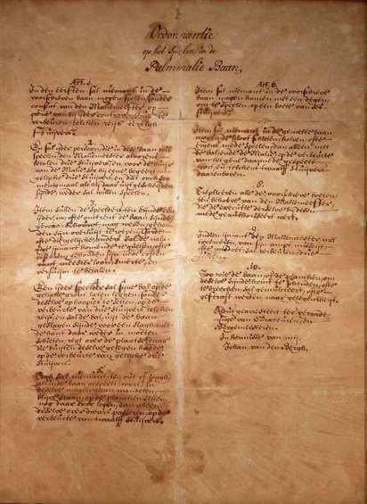 Palmmalie (Malie), ordonnantie Leiden, 1637