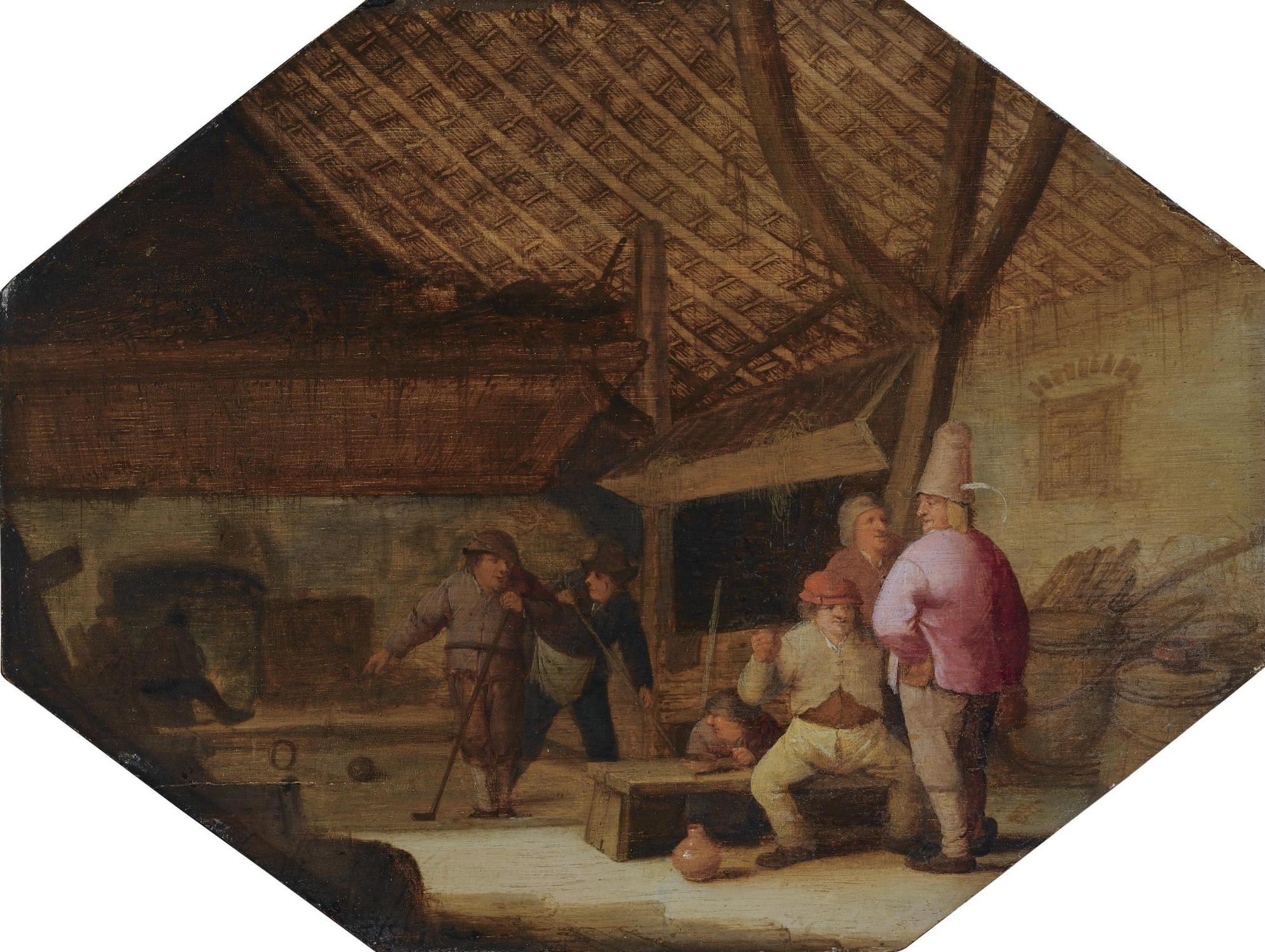Bartholomeus Molenaer, Beugelen, 'Kolven door den beugel'
