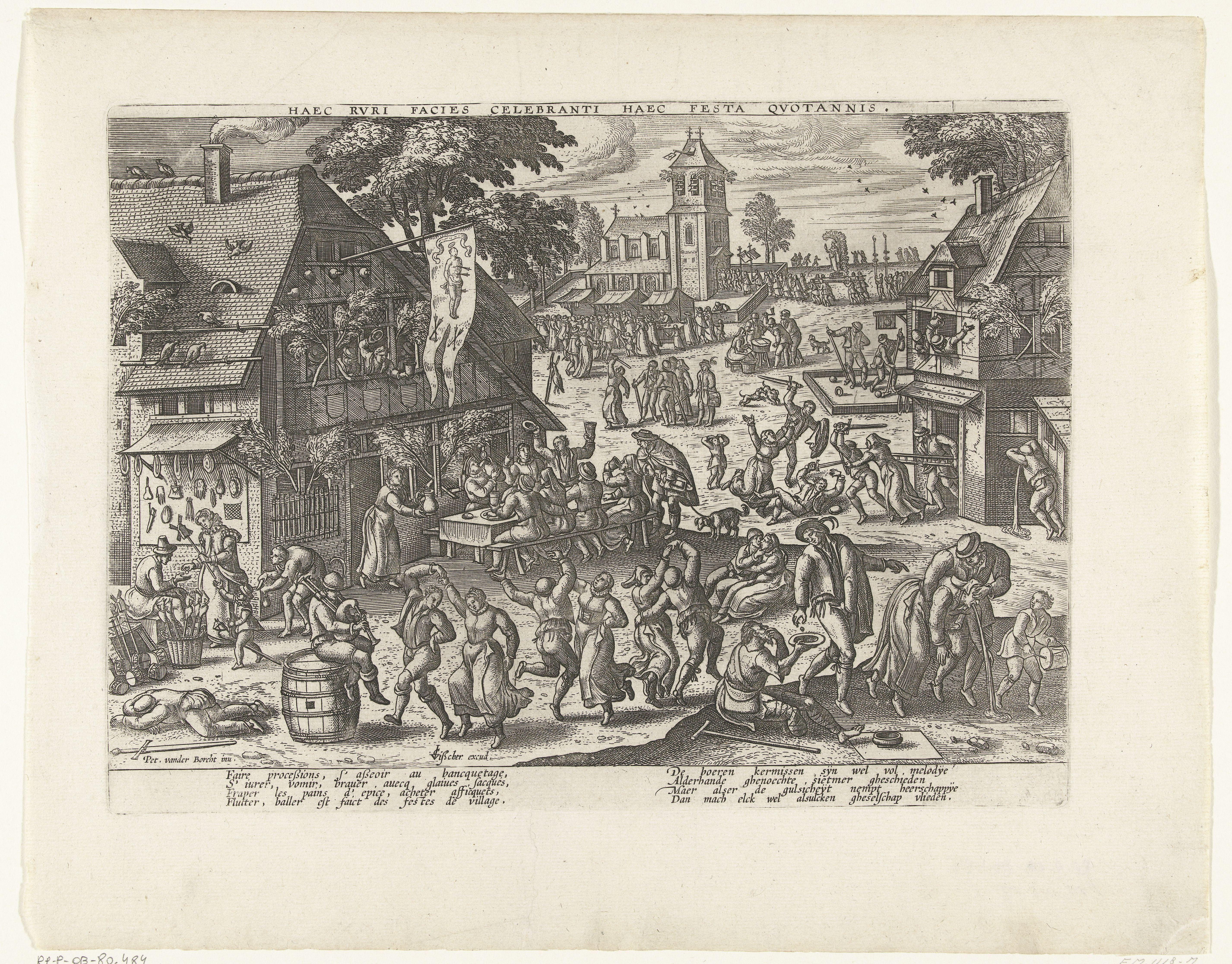 Anoniem, naar Pieter van der Borcht, Beugelen, 'Kolven door den beugel'