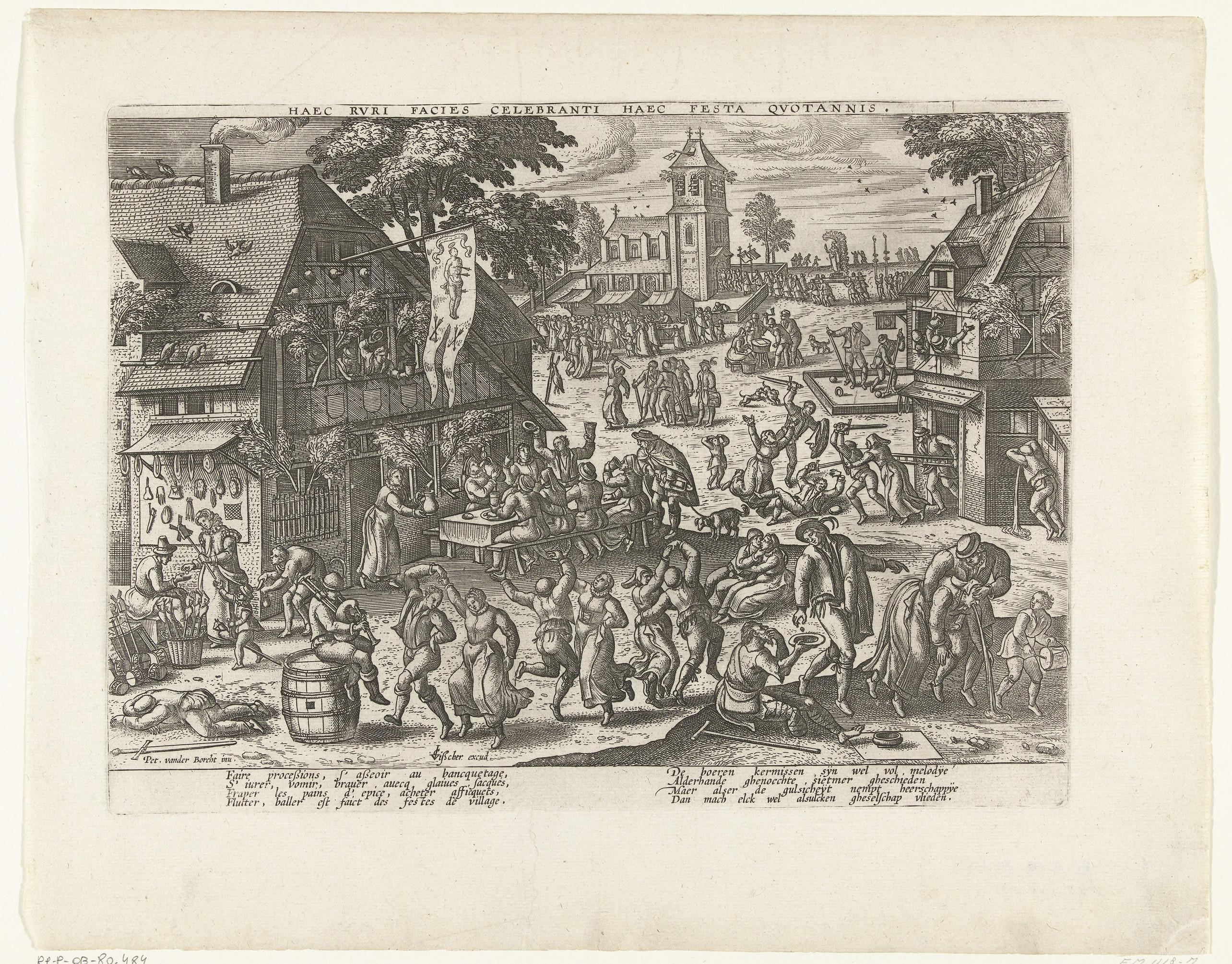 Anoniem, naar Pieter van der Borcht, Beugelen. 1600