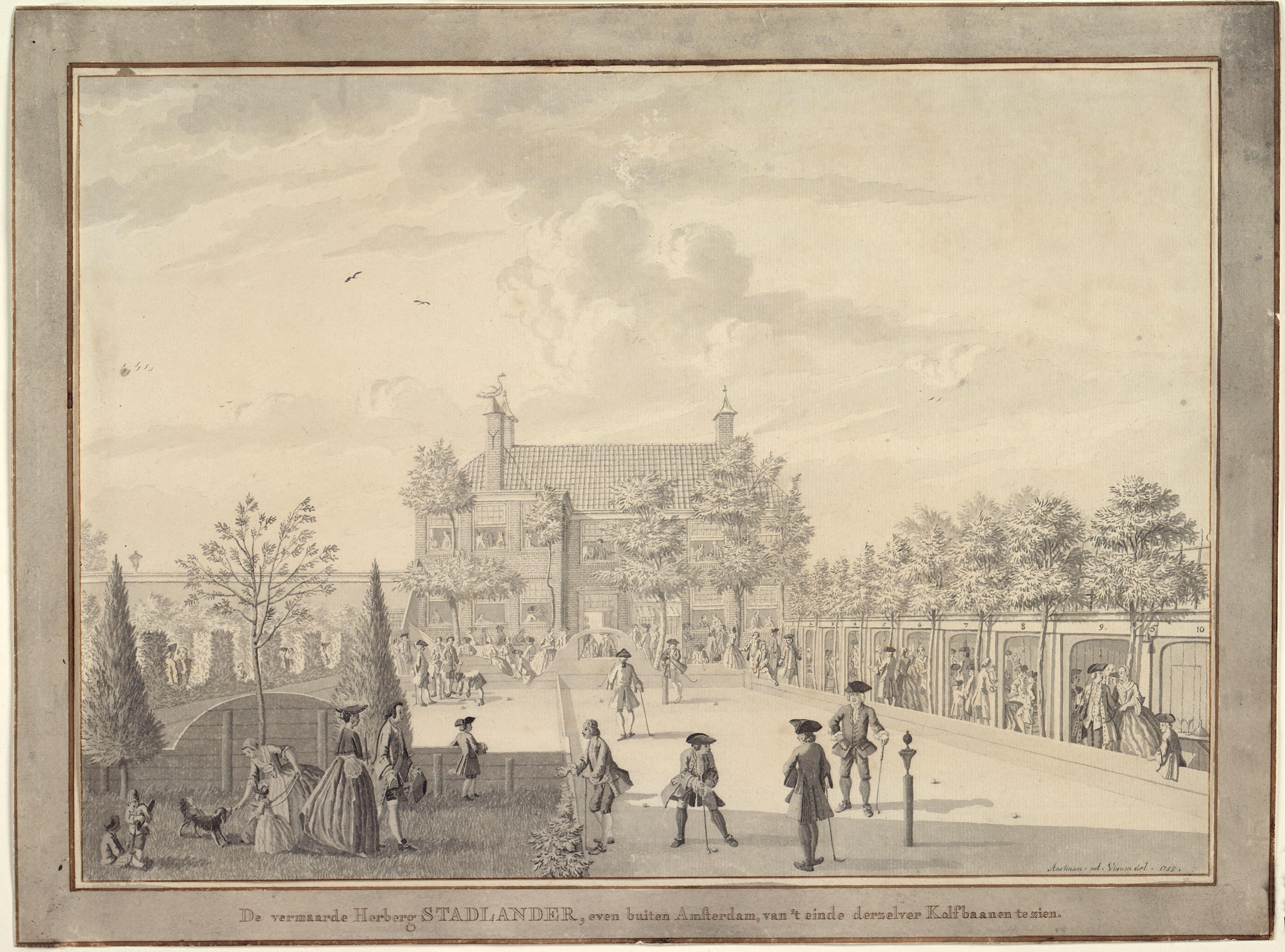 N.M. Aartman, Kolfbaan Herberg Stadlander - 1755