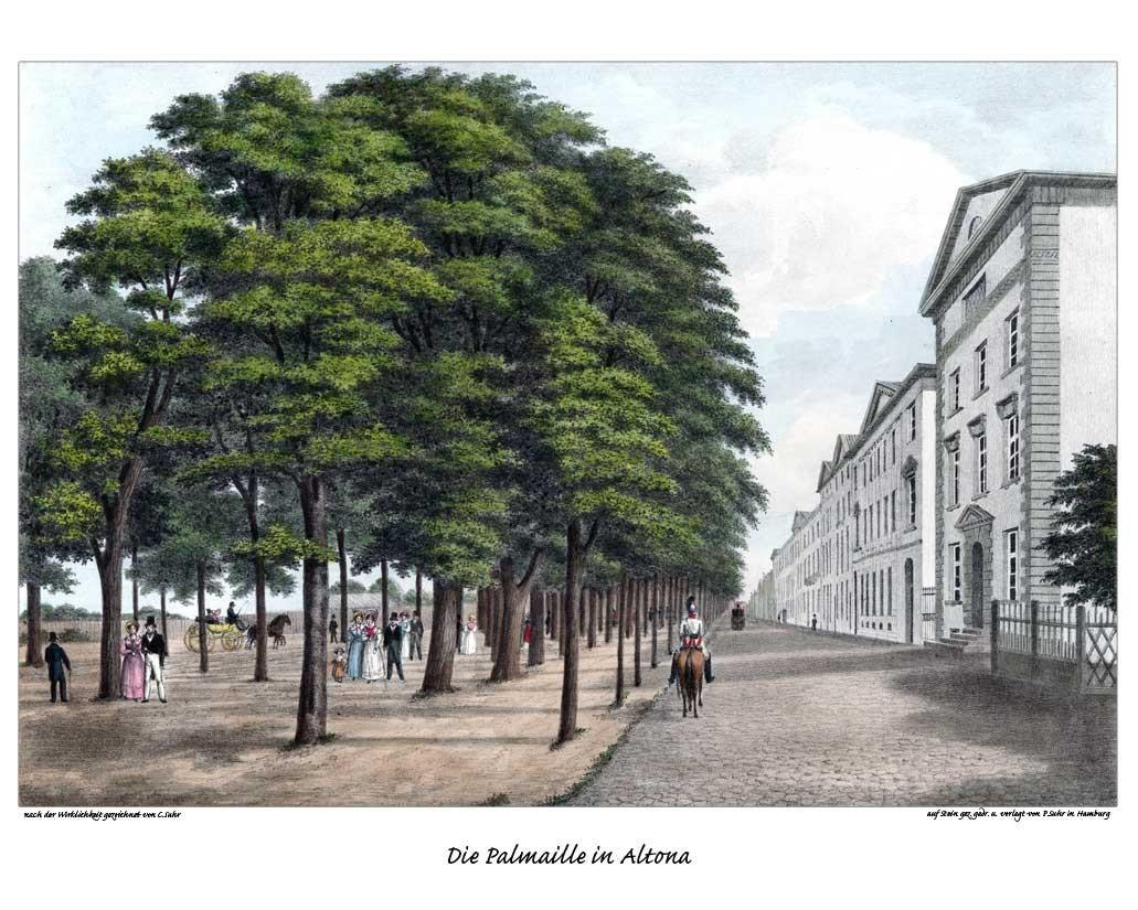 Maliebaan Altona, Deutschland. Ca. 1840