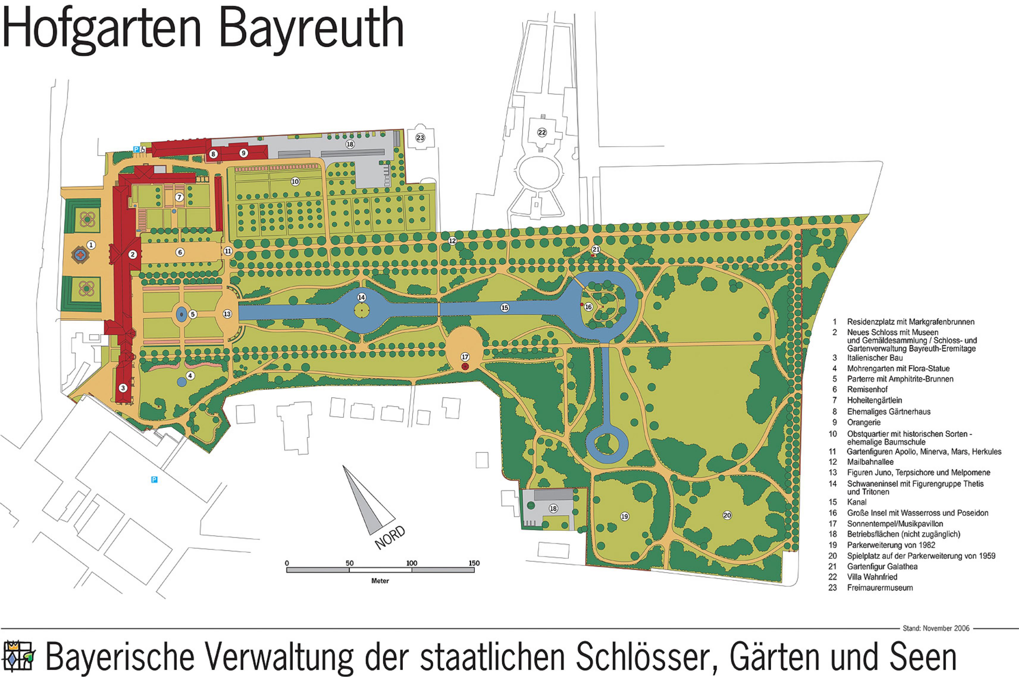 Maliebaan Bayreuth, Deutschland. Tweede helft 17e eeuw