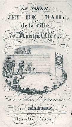 Beschrijving van het maliespel, France. 1822