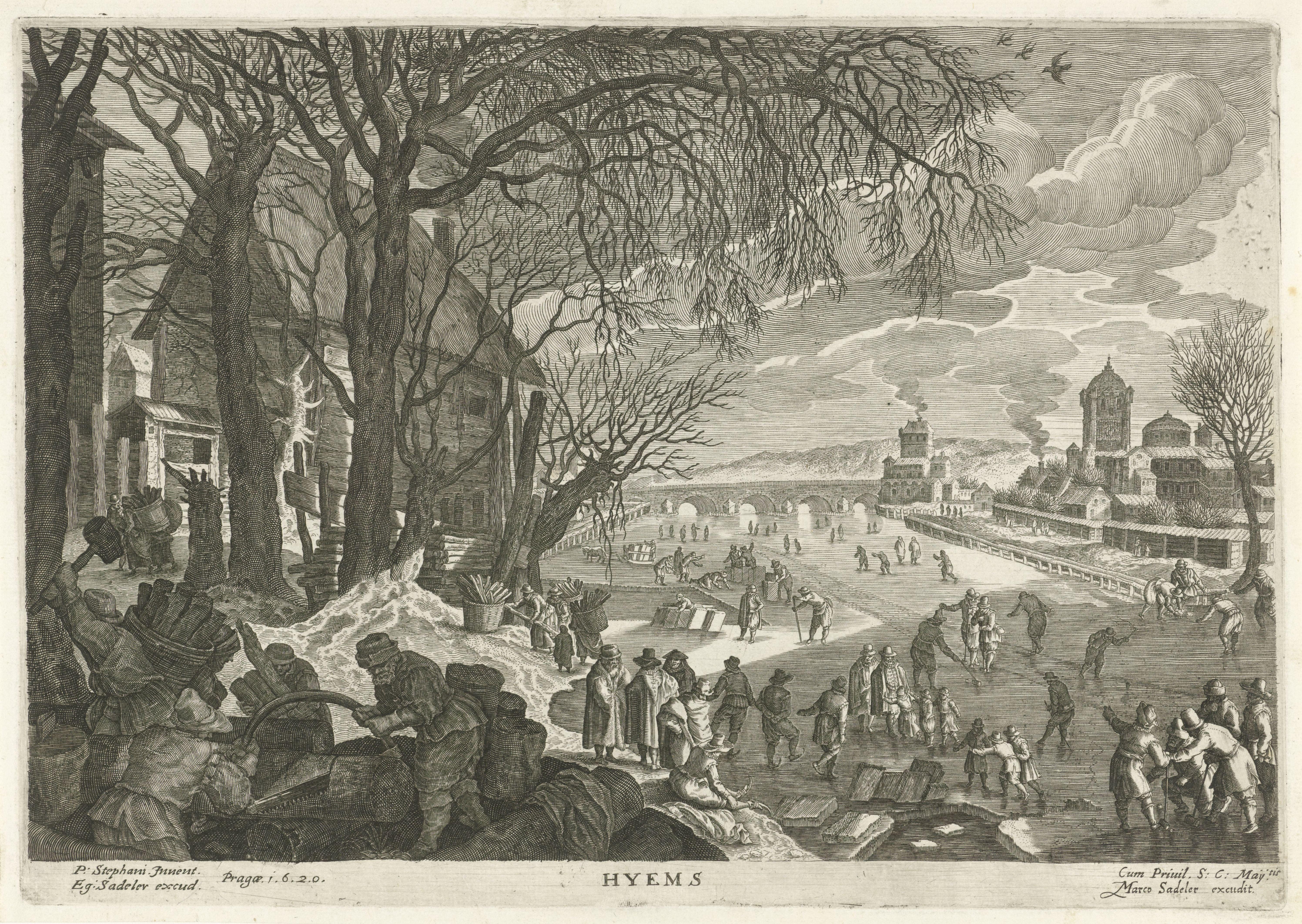 Aegidius Sadeler, Hyems. Malie op het ijs
