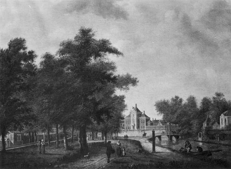 Anoniem, Maliehuis en Maliebaan Utrecht, Nederland. Ca. 1770